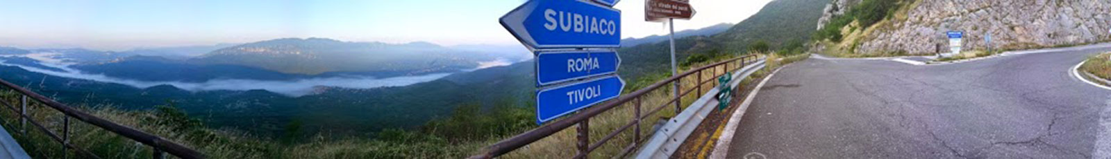 Bivio di Cervara Subiaco Roma Tivoli